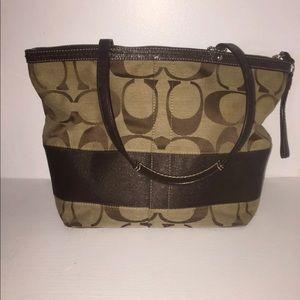 Brown Coach Signature Bag